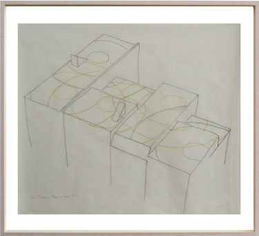 Max Neuhaus, Fan Music (drawing studies), 1990