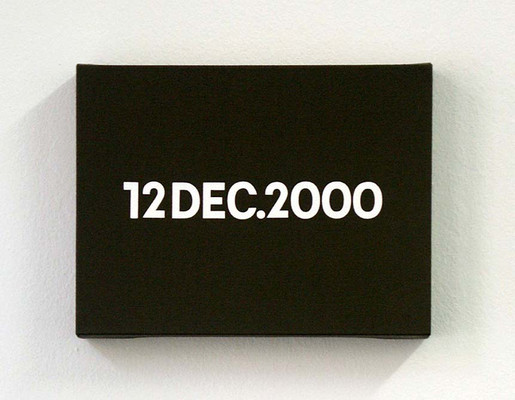 On Kawara, DEC. 12, 2000, TODAY series, 2000