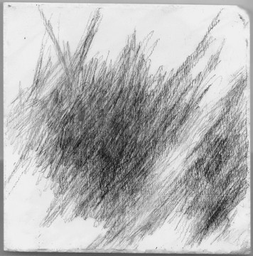Untitled (3) 2012 graphite on marble 6 x 6 in