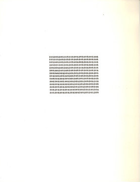 Carl Andre, One Hundred Sonnets - Sea, 1963