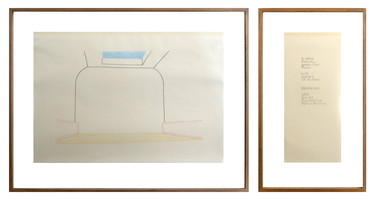 Max Neuhaus, Untitled (final drawing) Kunsthalle Basel, 1993